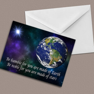 Be humble greeting card