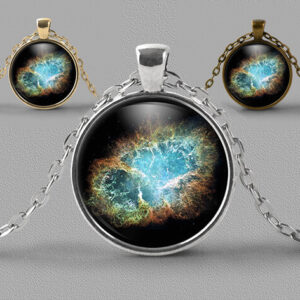 Astrology jewellery Crab nebula image as a pendant