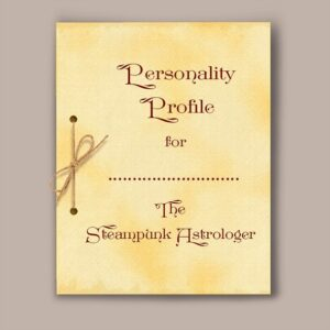 Astrology personality report frontispiece