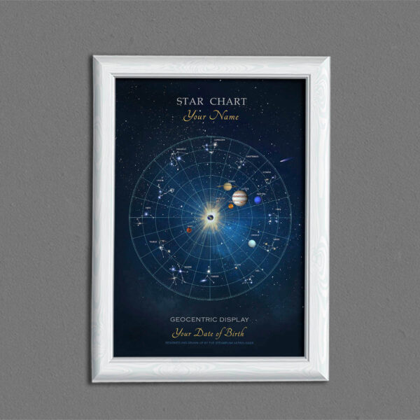 Astrological Star chart - a star map for birth chart etc.